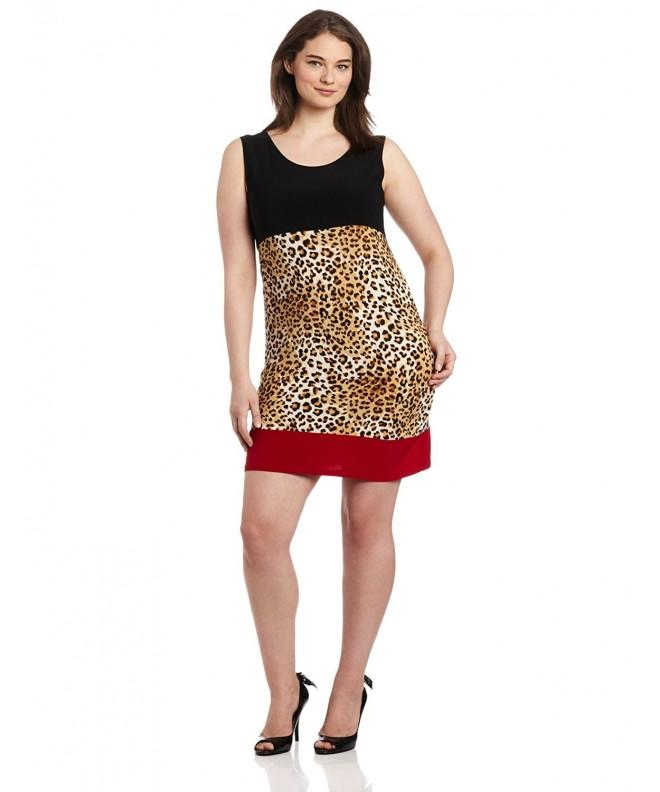 Star Vixen Plus Size Sleeveless Colorblock