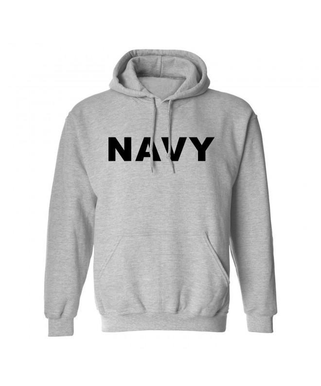 NAVY Hooded Sweatshirt Gray Medium