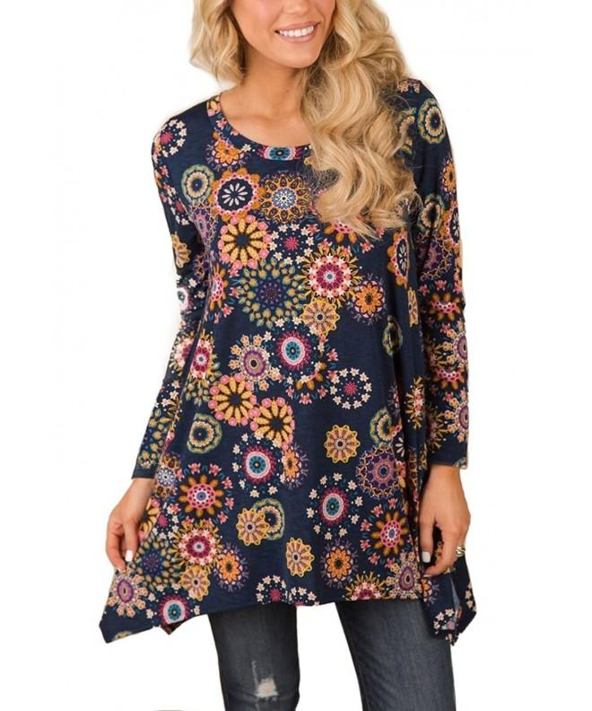 Tovly Women Sleeve Floral Blouses