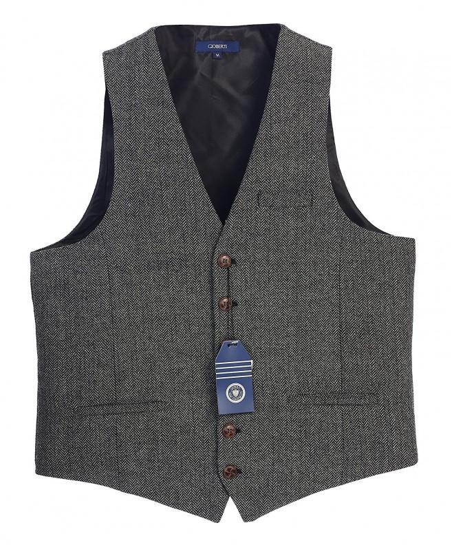 Gioberti Button Custom Formal Herringbone