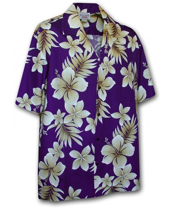 Hawaiian Shirt Men Flowers 2X Large