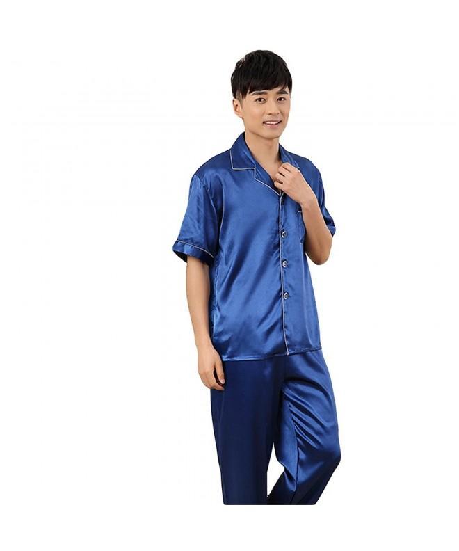 ZUEVI Classic Sleeve Pajamas NavyBlue M