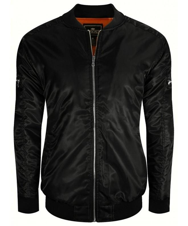 UPSCALE Mens Bomber Jacket Black