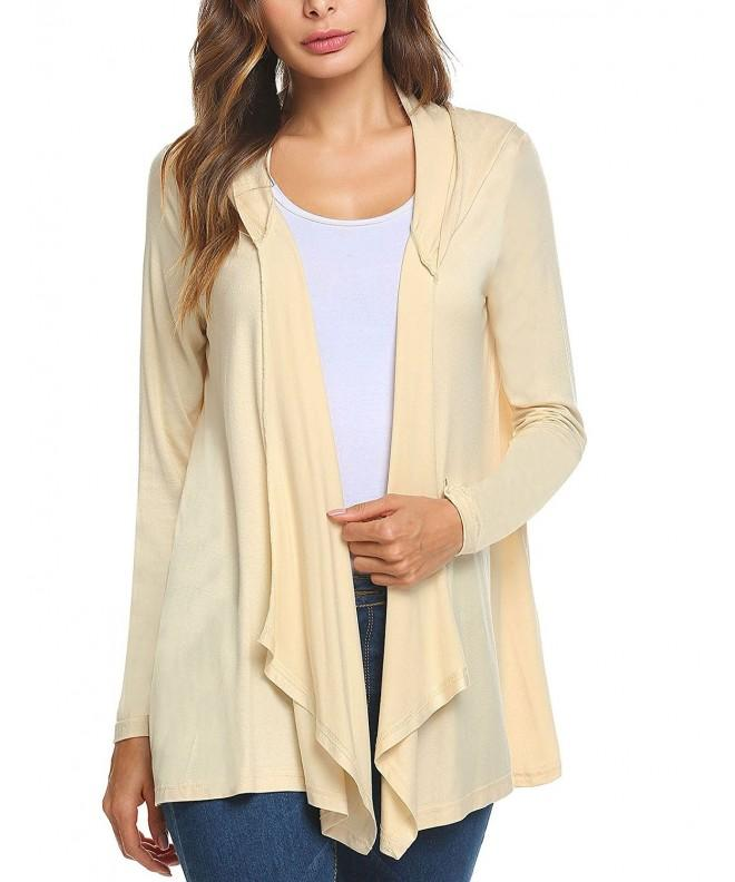 Mofavor Womens Sleeve Waterfall Cardigan