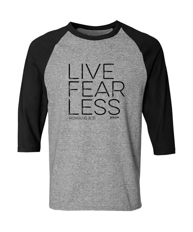 Live Fearless Adult Raglan Christian