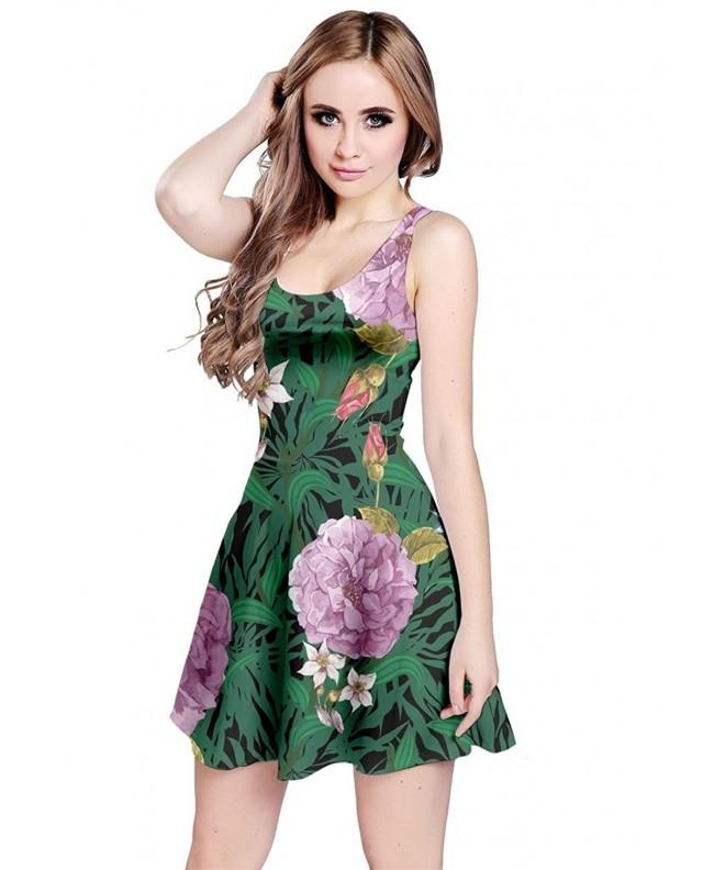 CowCow Womens Green Floral Sleeveless