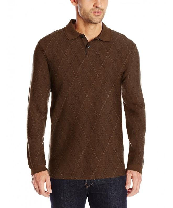 Haggar Sleeve Double Jacquard Walnut