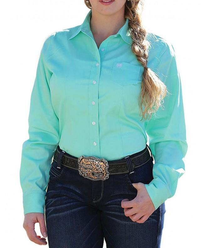 Cinch Womens Solid Button Western