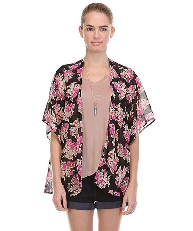 StellarChic Kimono cardigan coverups Blossoming