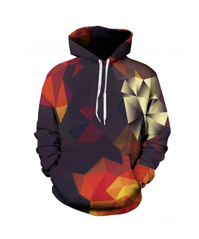 GuPoBoU168 Unisex Sweatshirts Geometric Diamond