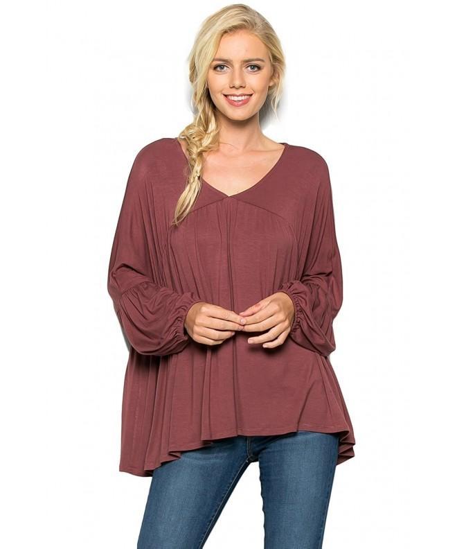 Annabelle Womens Oversized Romantic Shirring