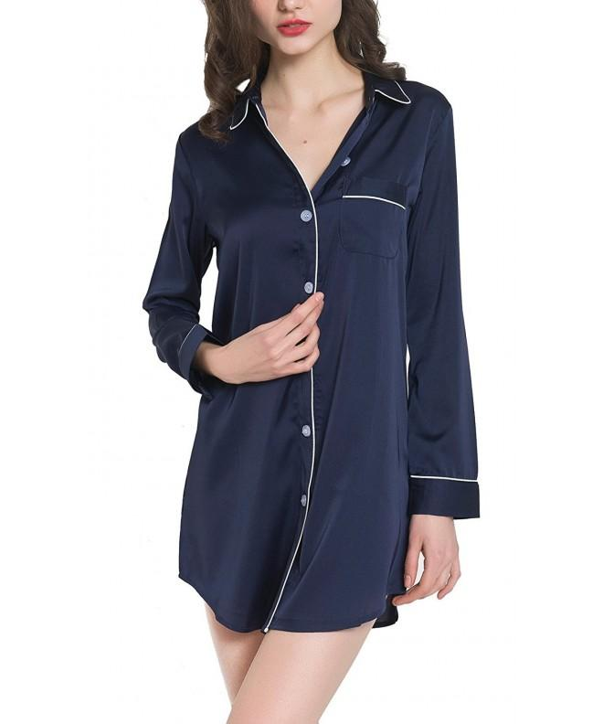 Sleeve Pajama Button Up Luxury Sleepwear