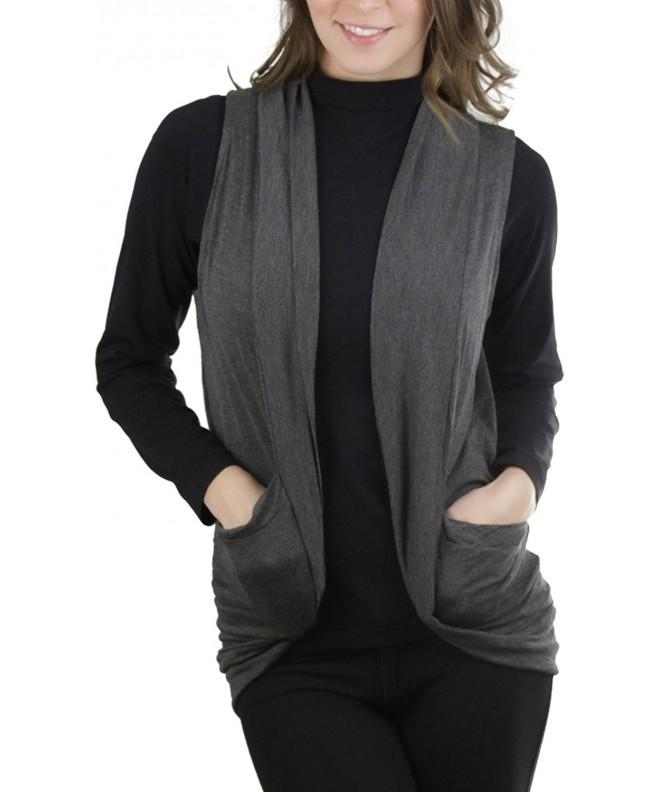 ToBeInStyle Womens Sleeveless Front Cardigan