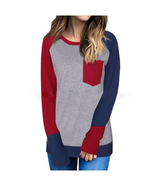 Idgreatim Womens Casual Color Sleeve
