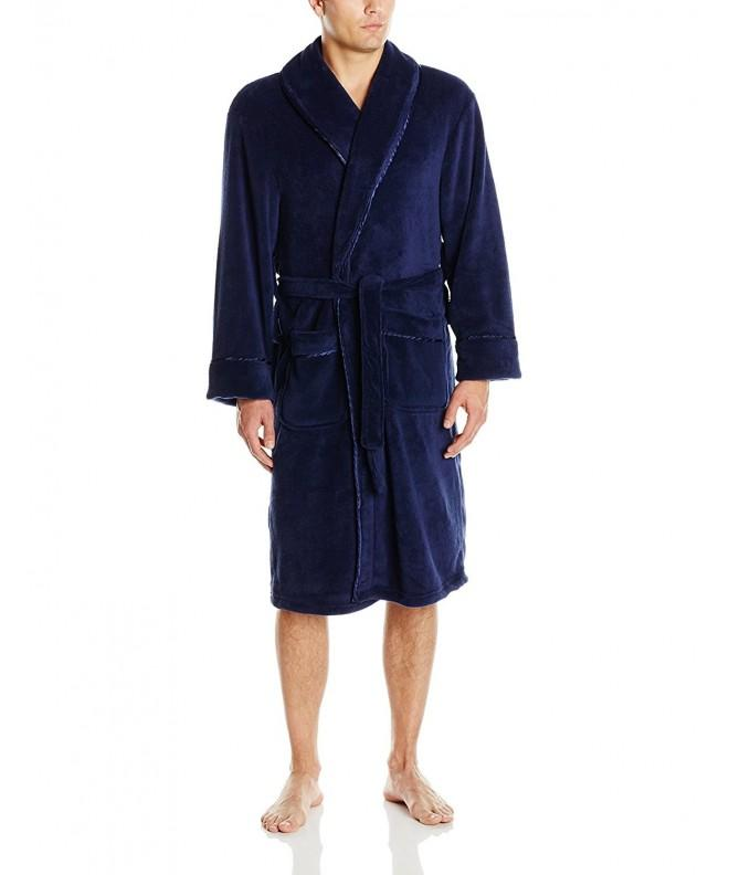 Intimo Mens Plush Robe Satin