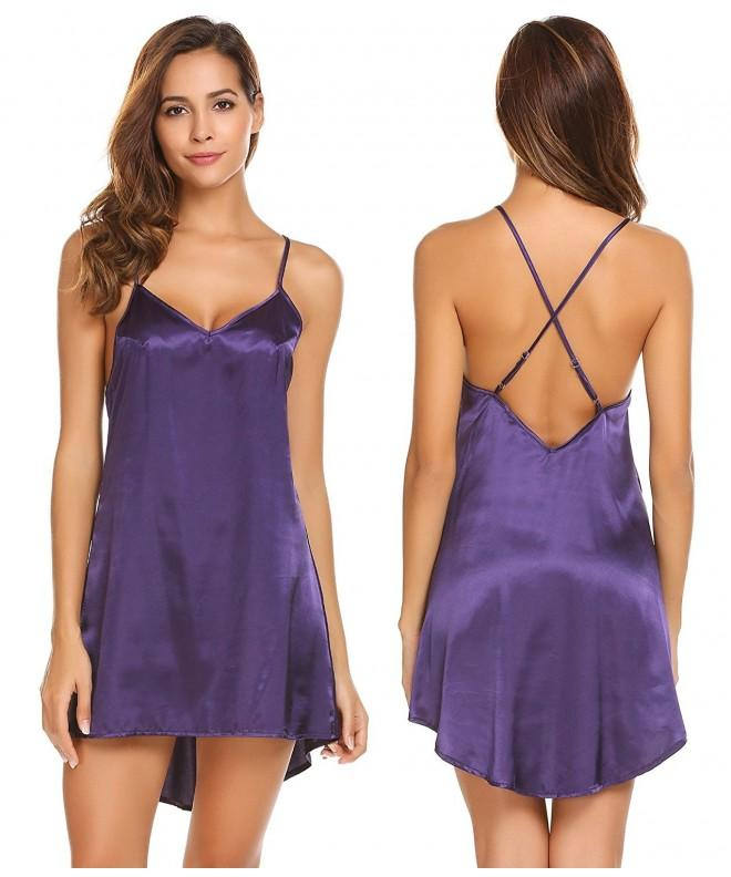 Adomes Sleepwear Nightgown Chemise Lingerie