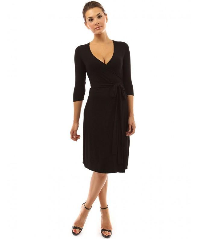PattyBoutik Womens Sleeve Dress Black