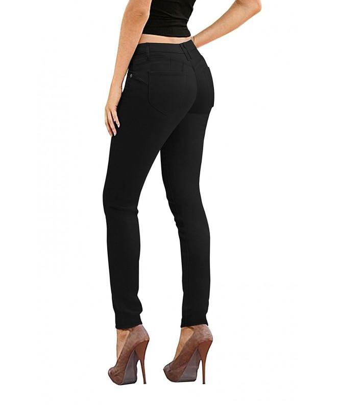 HyBrid Company Womens Stretch Jeans P37375SK Black 7