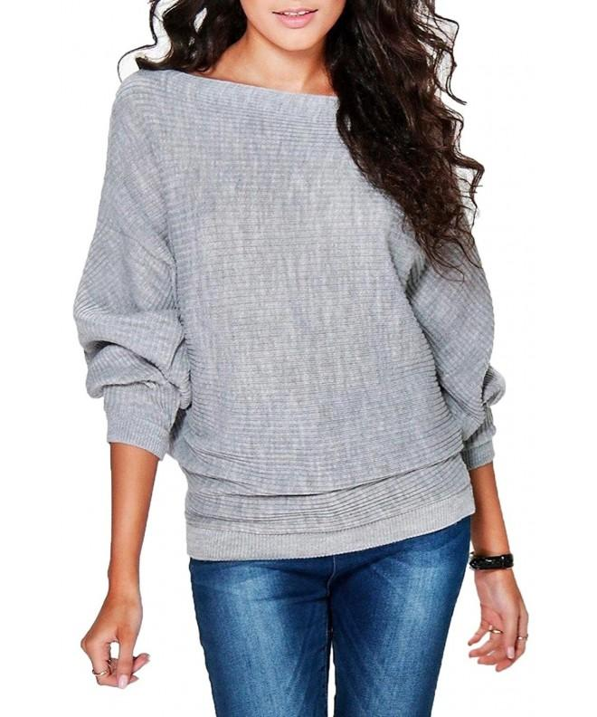 FOUNDO Womens Autumn Pullover Sweater