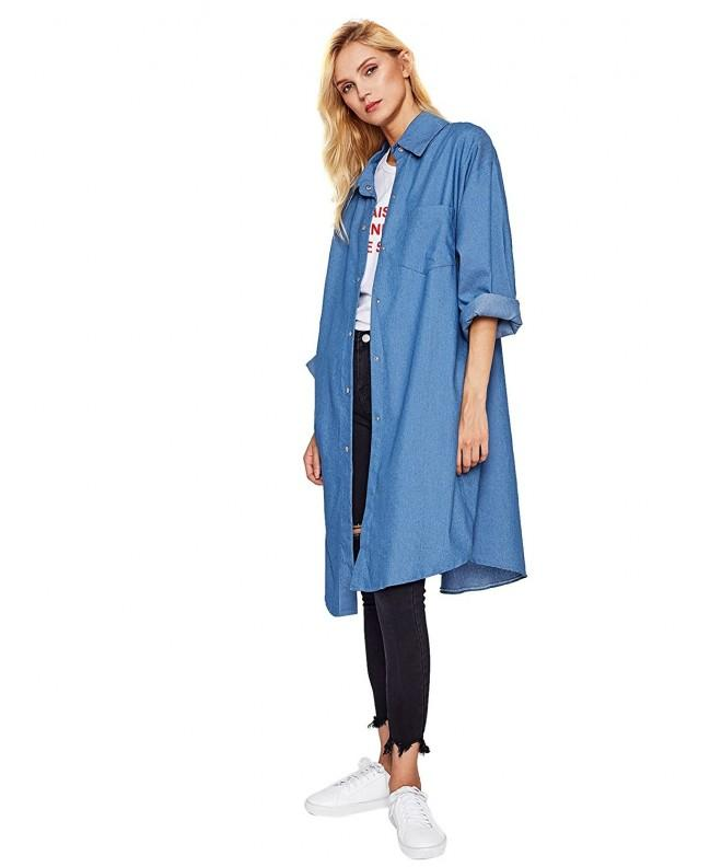 SweatyRocks Womens Oversized Cardigan Overcoat