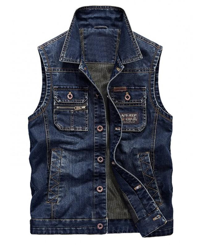 Vogstyle Sleeveless Casual Button Jacket