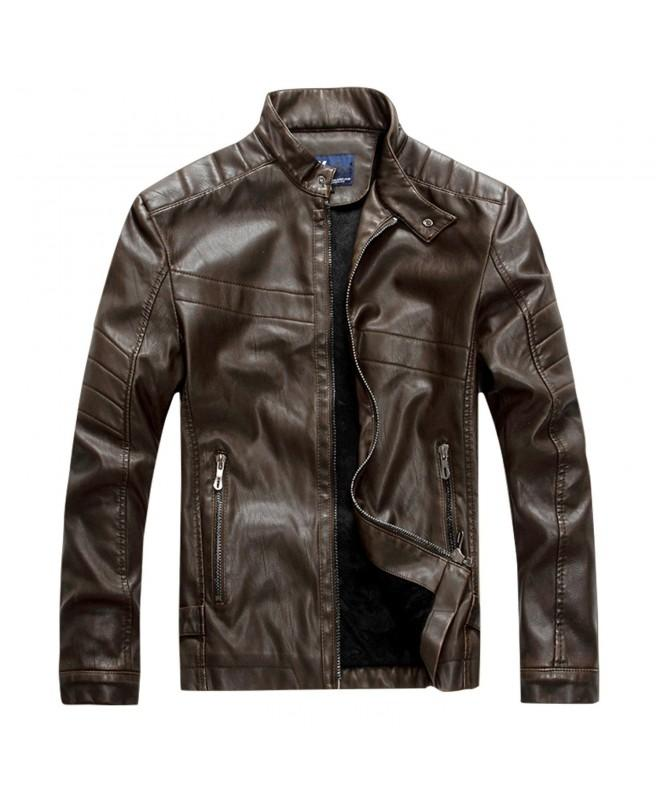 Finrosy Leather Motorcycle Vintage Outwear