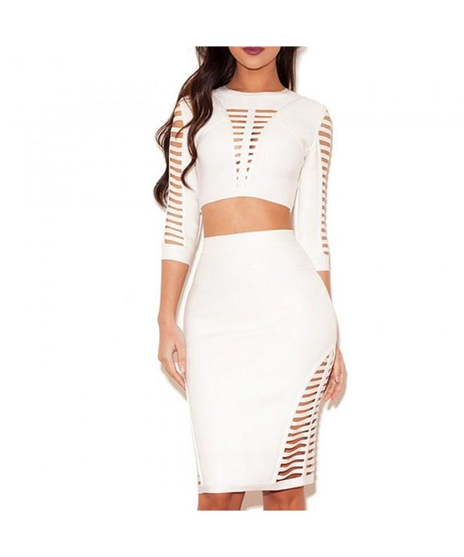 Hlbcbg Bandage Bodycon Evening Cocktail