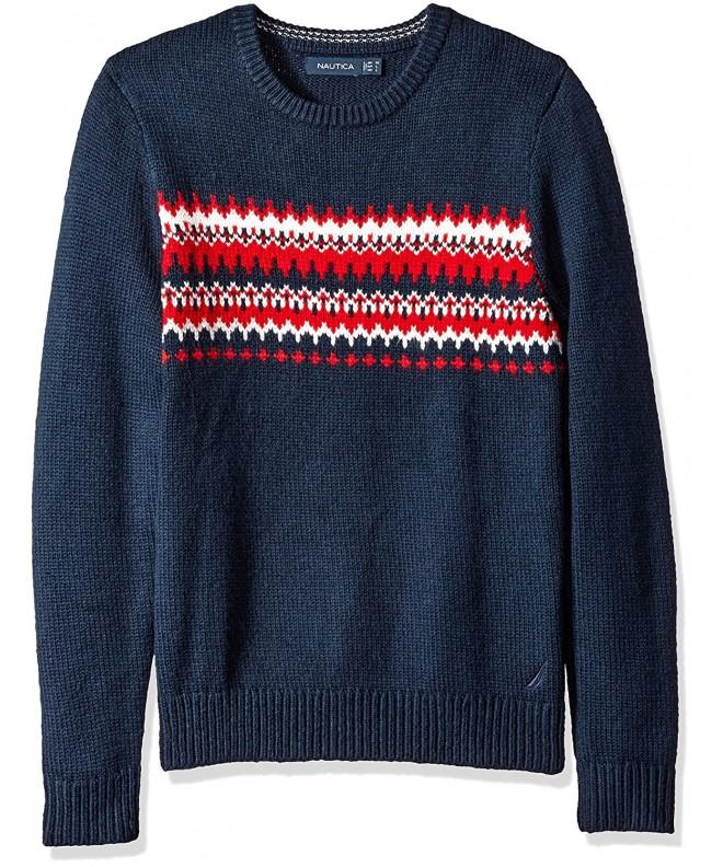 Nautica Mens Fair Isle Sweater