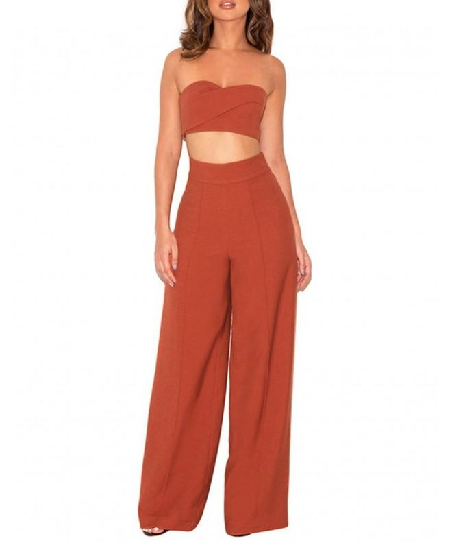 Lalagen Womens Trousers Cocktail Orange