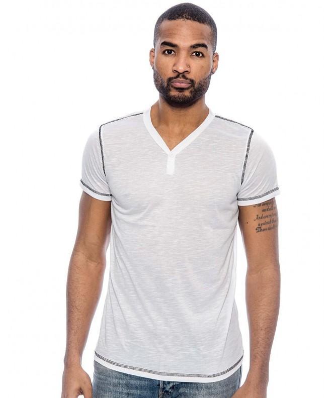 True Rock Cruise V Neck T Shirt White Large
