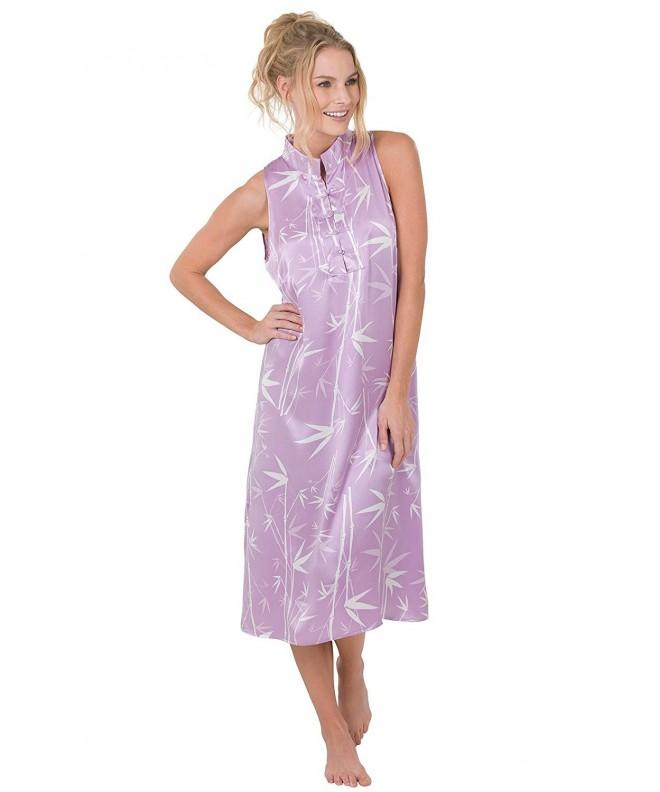 PajamaGram Garden Nightgown Lavender 12 14
