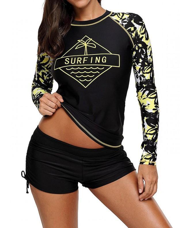 Womens Protective Rashguard Printed Surfing