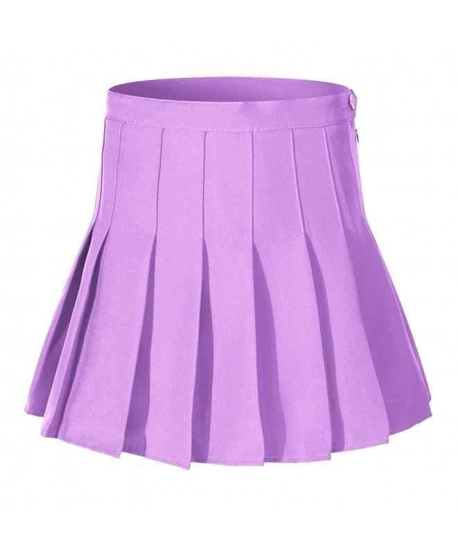 Womens Waist Pleated Tennis purple