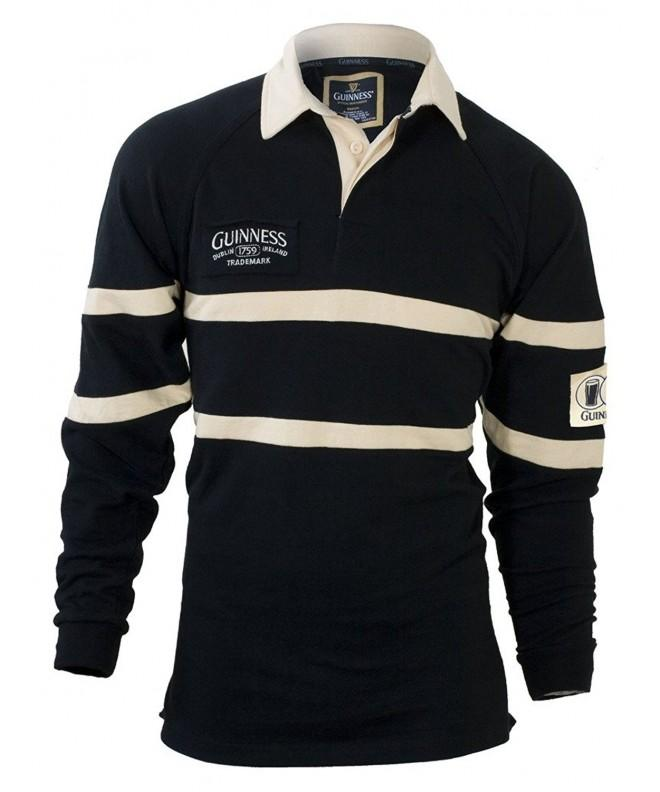 Guinness Traditional Rugby Jersey Black