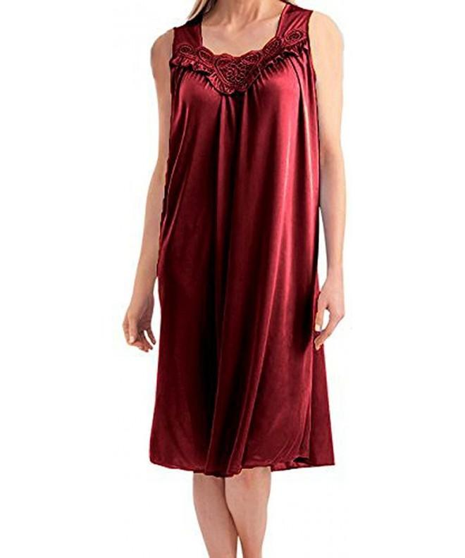 Womens Sleeveless Nightgown Red XL