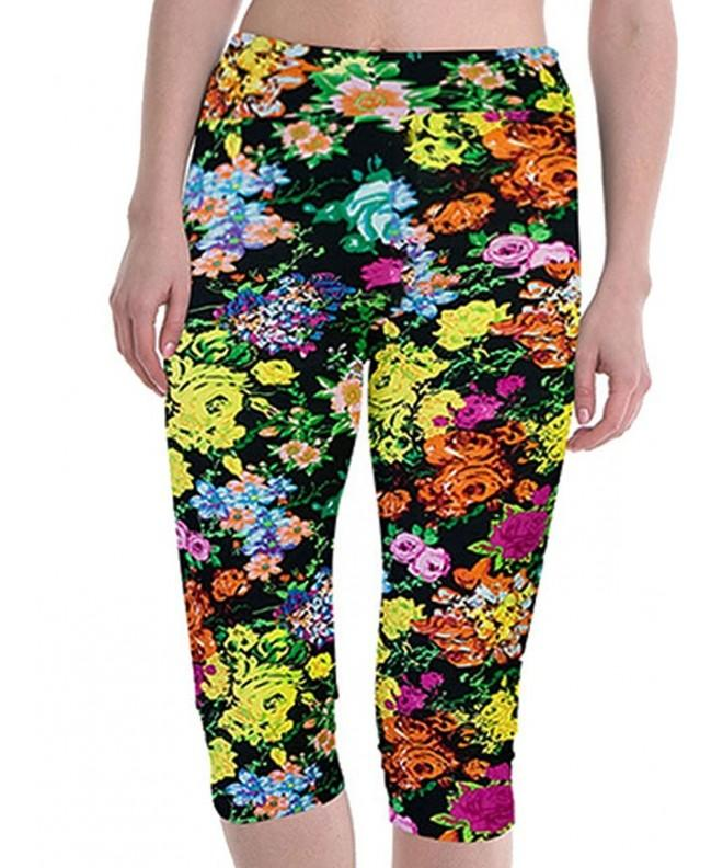 Womens Workout Leggings Stretch Colorful