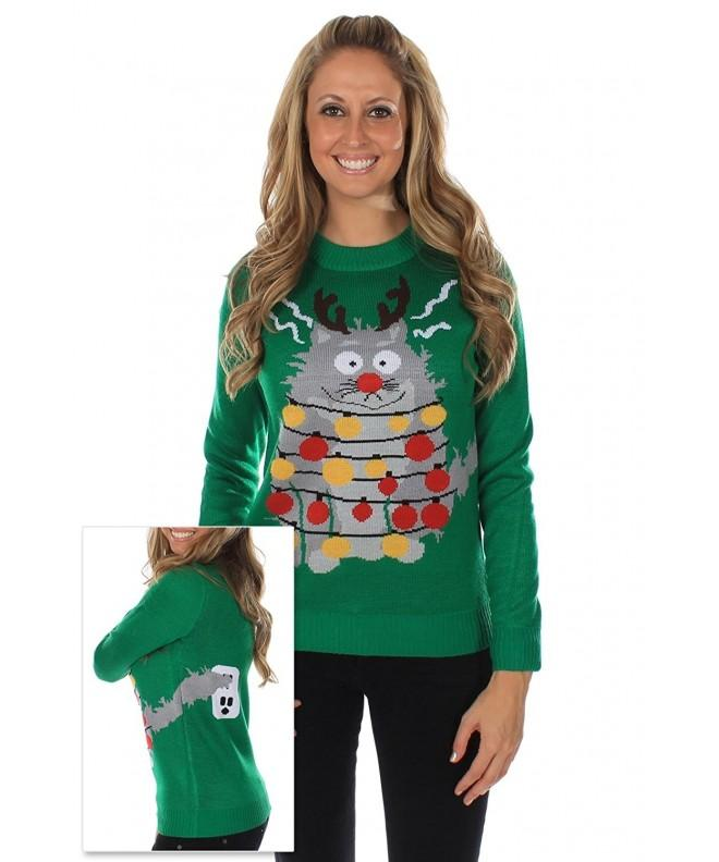 Womens Ugly Christmas Sweater Electrocuted