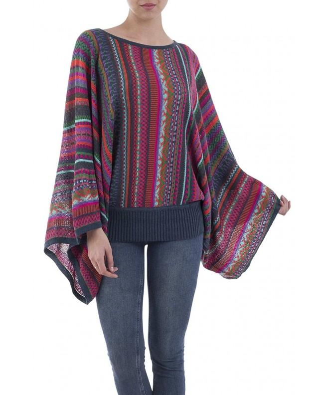 NOVICA Multicolor Alpaca Striped Sweater