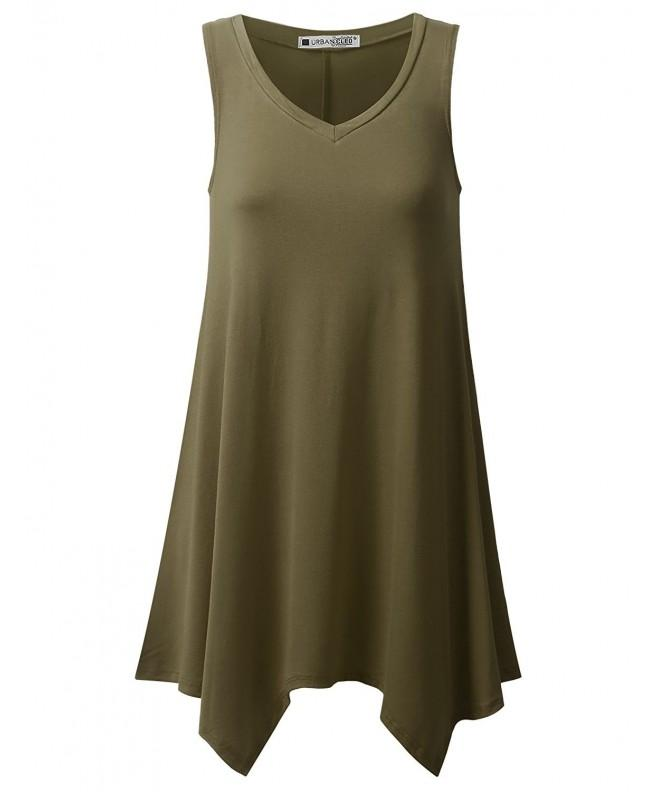 URBANCLEO Womens V Neck Sleeveless 3XLARGE