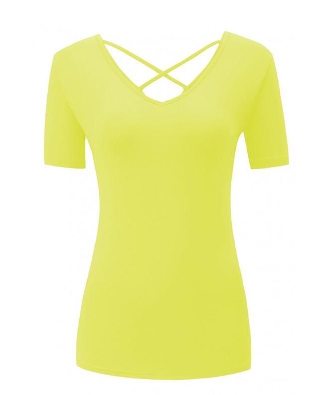 Moskill Shirt Women Crisscross Yellow