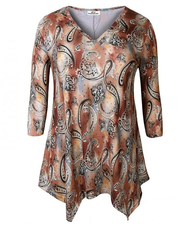 Zerdocean Womens Printed Sleeve Tunic