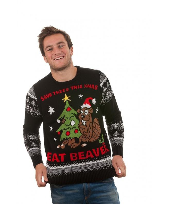Rude Christmas Jumpers Eat Beaver