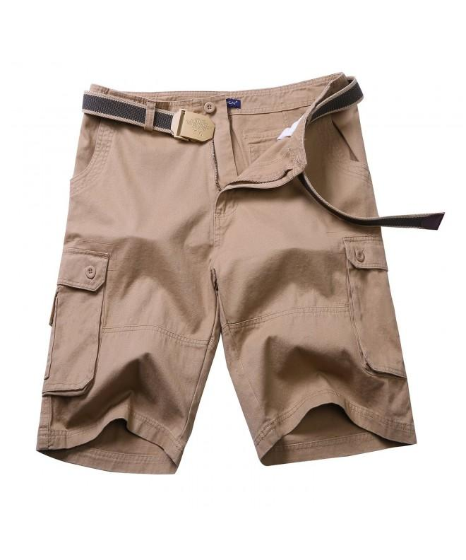 NEWCOSPLAY Cotton Cargo Khaki Shorts