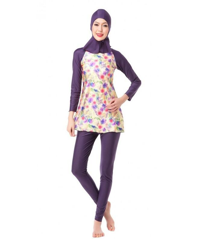 GladThink Burkini 3 Pieces Printing Swimsuit