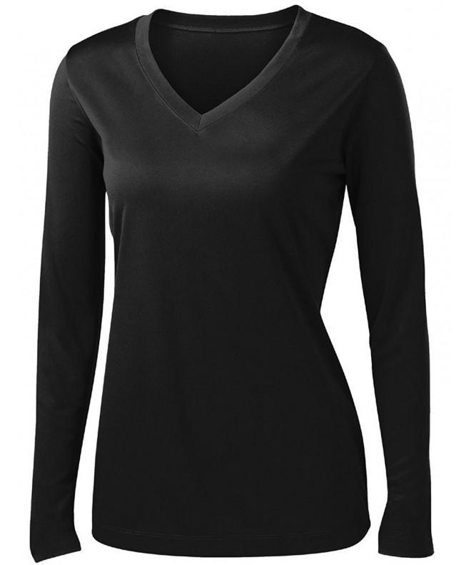 Ladies Moisture Wicking Athletic BLACK XL