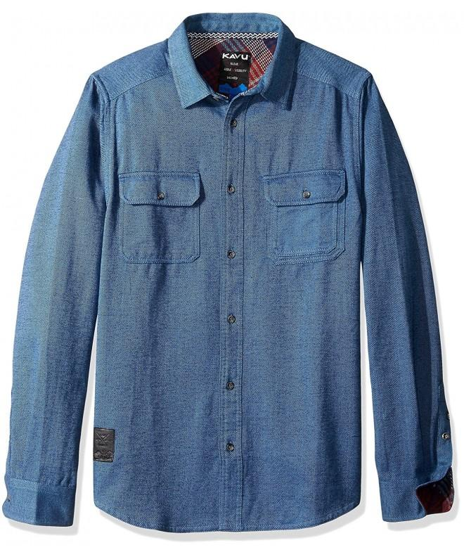 KAVU Franklin Mens Shirt Pacific