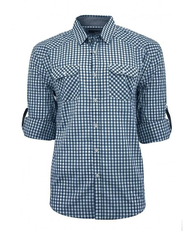 Bruno Gingham Pilot Button Chambray