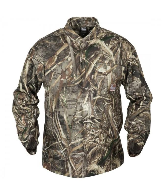 BANDED Fleece Henley Shirt XX Large