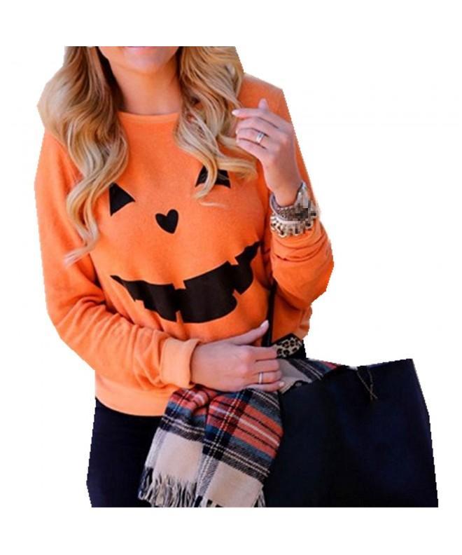 Yiluweinir Halloween Pumpkin Sweatshirt Pullover