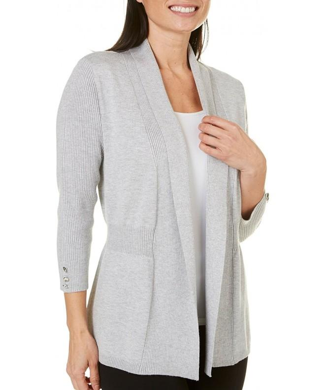 89th Madison Womens Button Cardigan